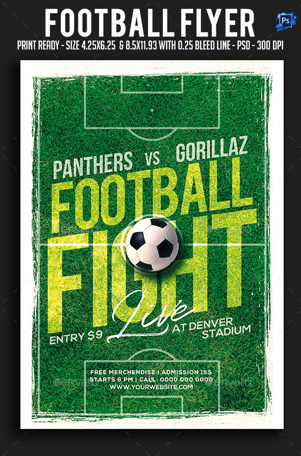 Football Flyer Sparkg Pinterest Flyer design templates