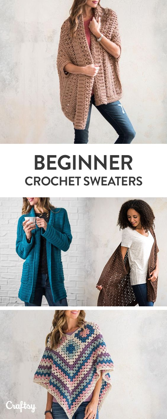 Beginner Sweater Projects - Pattern & Yarn Mailed to You! | Patterns ...