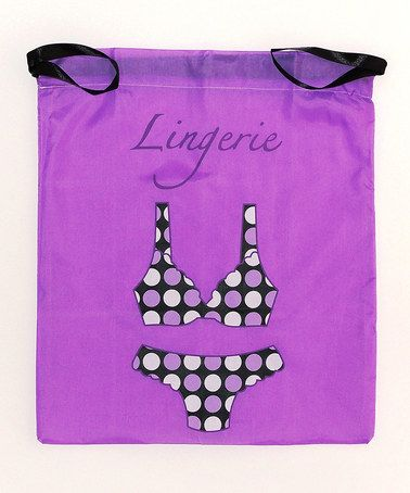 Another great find on #zulily! Purple Lingerie Drawstring Bag by Pure Style Girlfriends #zulilyfinds