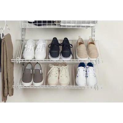 Rubbermaid Fasttrack White Wire Shoe Shelf Kit Lowes Com Shoe Shelf Wire Closet Accessories Closet System