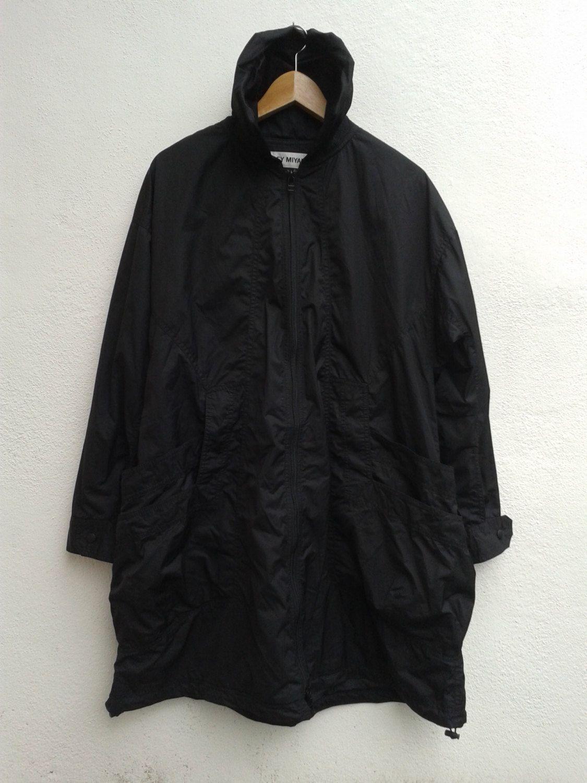 ISSEY MIYAKE Long Shirt Jacket RARE Vintage All Black Wind Coat I M 2 3 F A 0 1 8 Avant Garde by BubaGumpBudu on Etsy