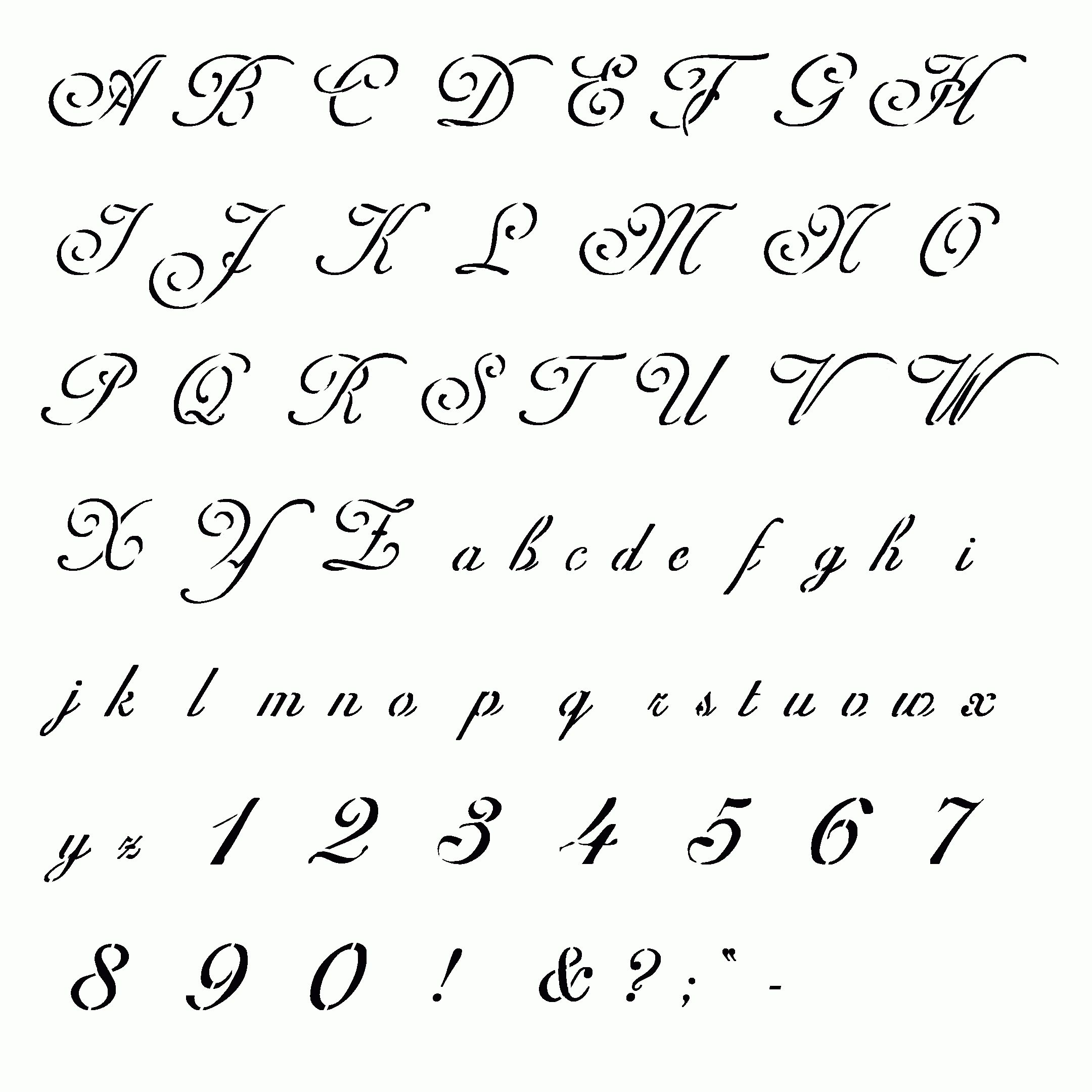 Fancy Handwriting Styles Cursive Writing Different Types Of Pertaining To Fancy Letter Stencils Printables Free Printable Letter Stencils Types Of Handwriting