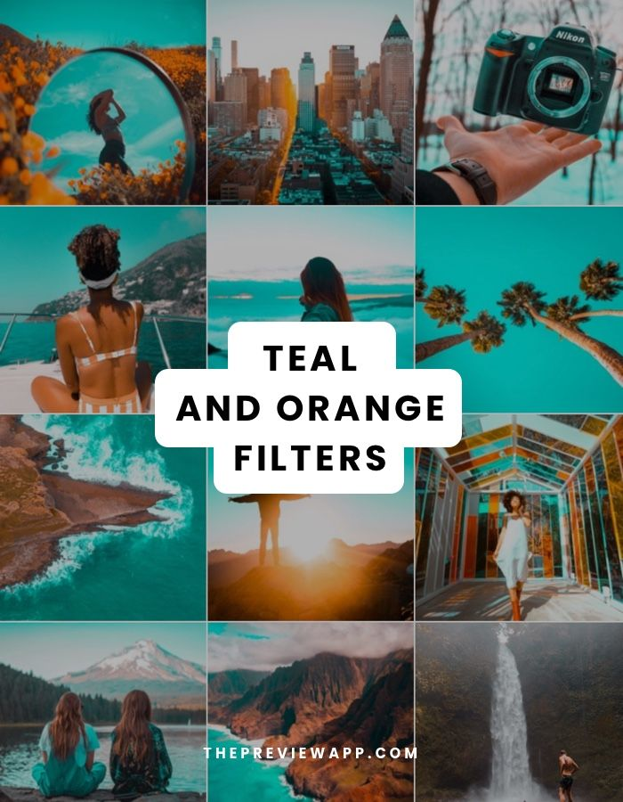 Teal and Orange filters in ONE APP ? Instagram theme