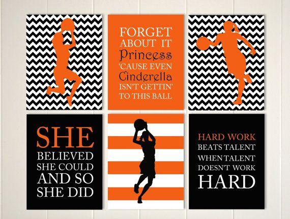Basketball girl, basketball wall art, basketball player ...