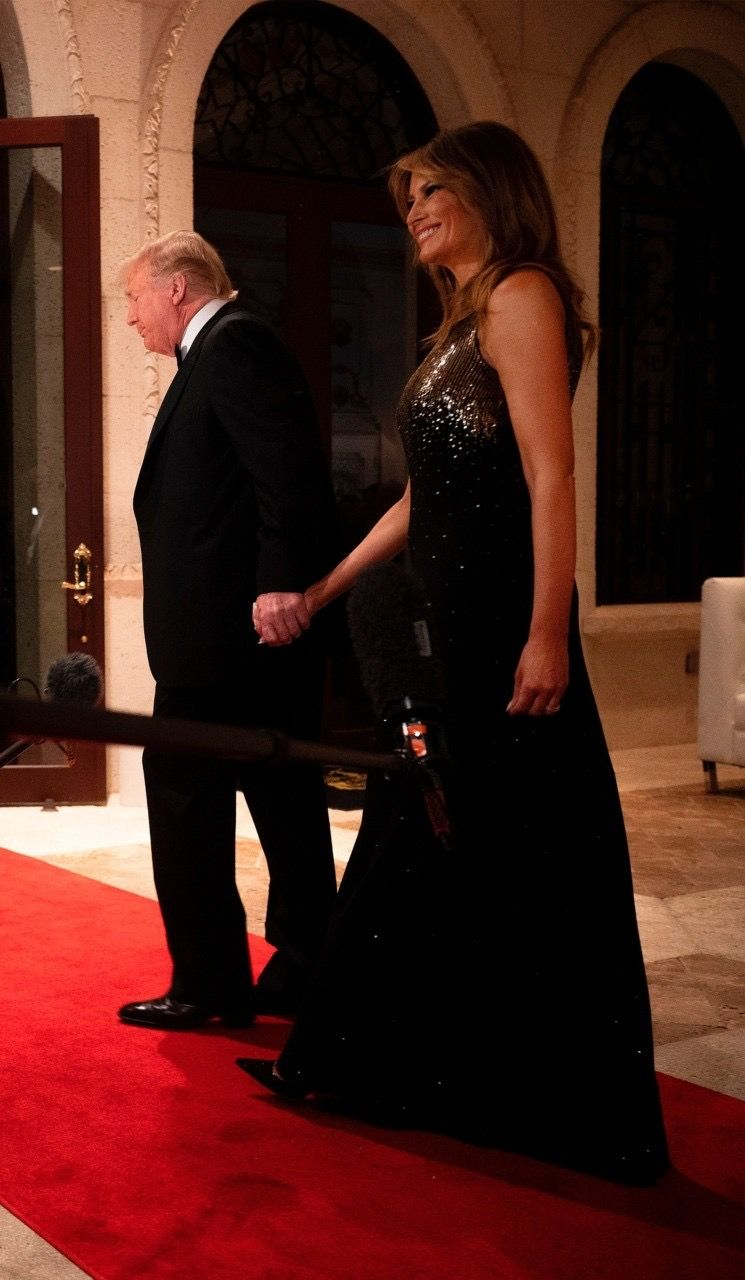 President & First Lady Melania Trump, New Year's Eve 2019