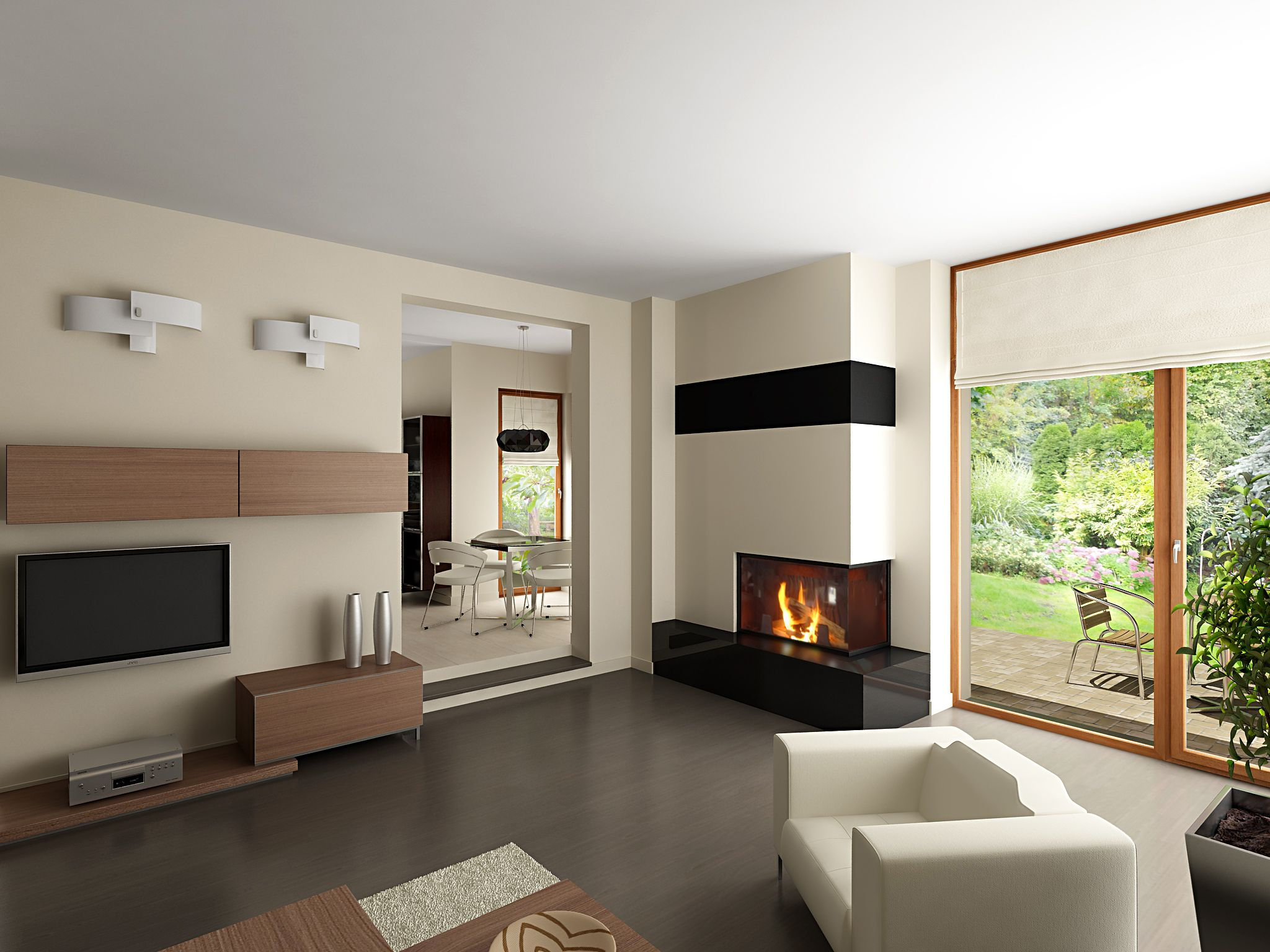 kominek | fireplace | Pinterest | Tv fireplace, Sitting rooms and ...