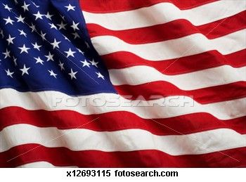American Flag Blowing Close Up Stock Image Salute To Our Troops