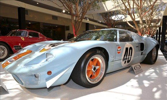 1968 Ford Gt40 Gulf Mirage Coupe Sold At Monterey Car Auctions