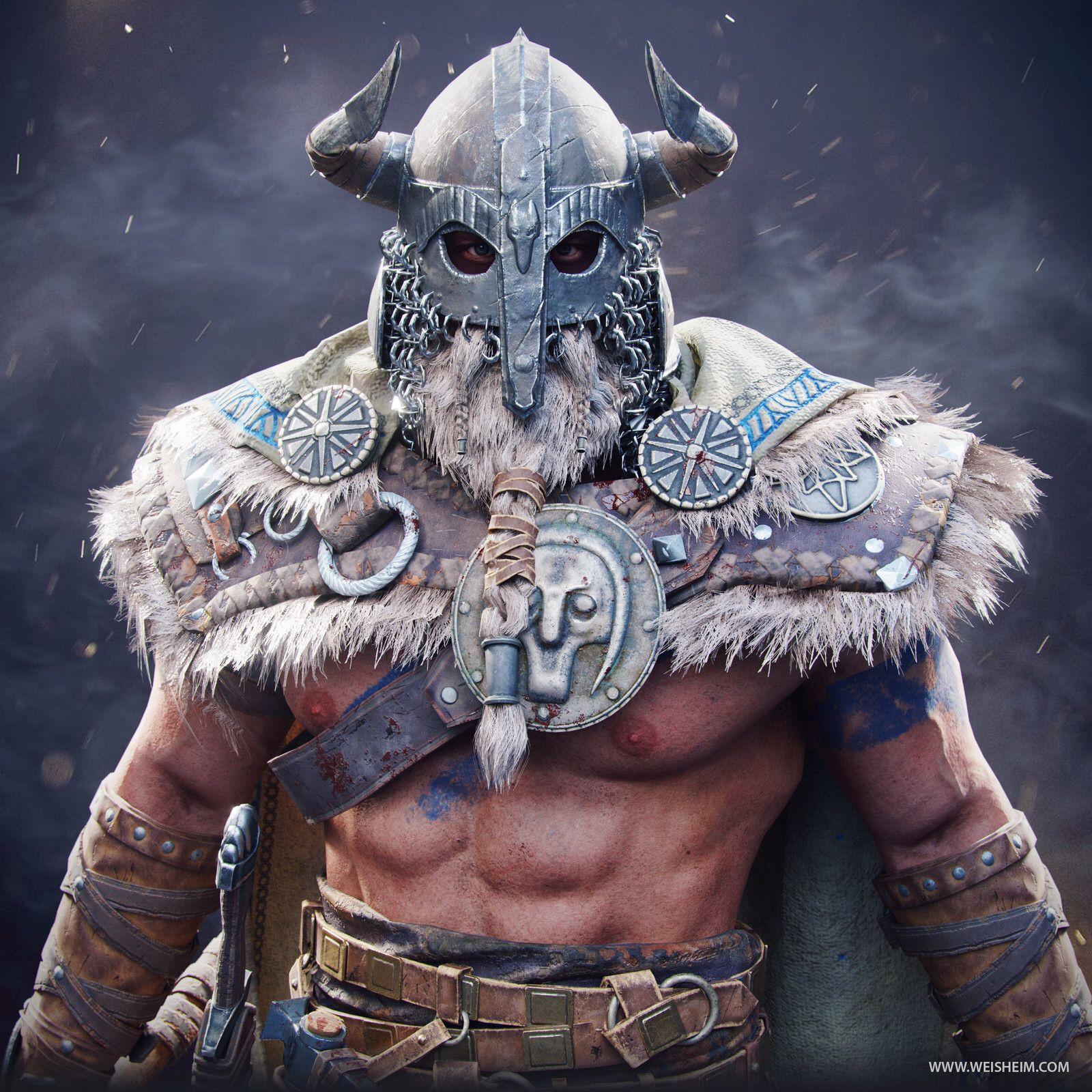 фото викингов варваров рядом домом