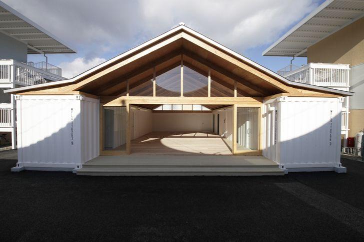 Shigeru Ban 39 S Temporary Onagawa Housing Is Made From Paper