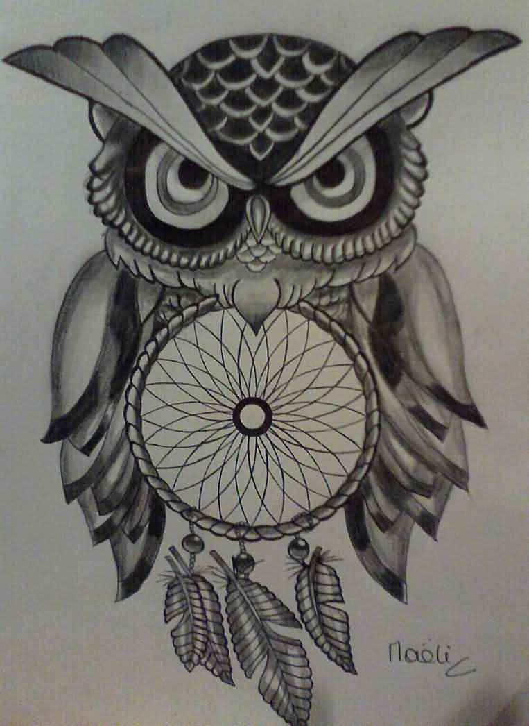 Owl And Dreamcatcher Tattoo Model Tato Pinterest Tatuaje Buho