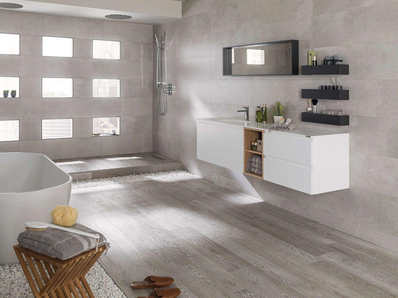 Pavimento par ker chester acero 14 3x90 cm 22x90 cm for Ceramica imitacion parquet