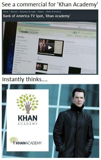 Khan Star Trek Into Darkness Khan Academy Meme Random Funny