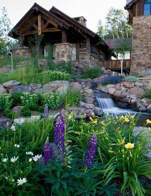 Landscaping Ideas, Garden Ideas, Backyard Waterfalls ... on Mountain Backyard Ideas id=69172