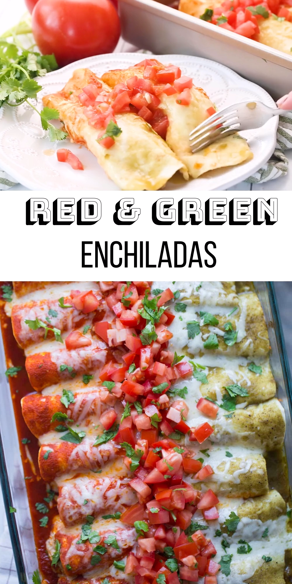 Photo of Red & Green Enchiladas