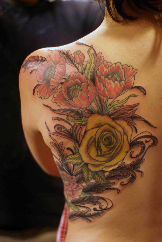 Left Back Body Poppy Tattoog 19362896 Ink Pinterest