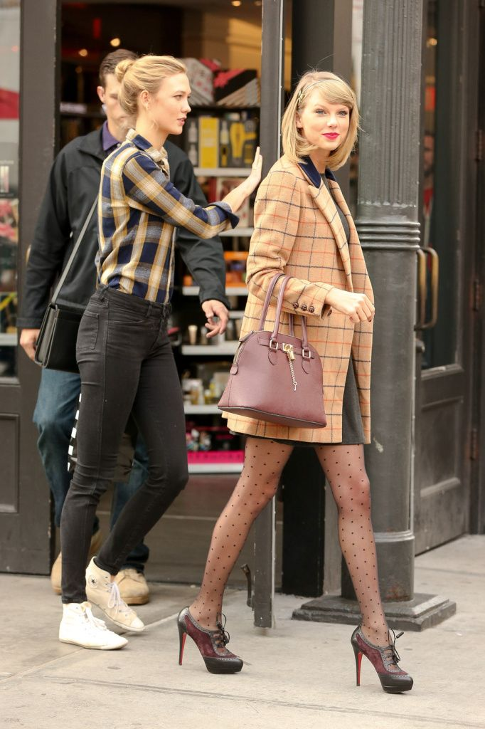 a01c3678f Taylor Swift And Karlie Kloss Furry Carpet Shopping Girlfriends In New York  City - http: