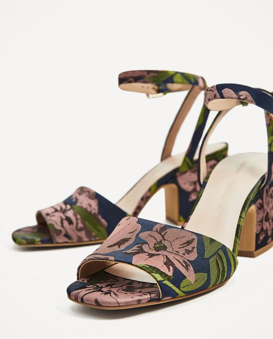 a29e40d8585 Image 5 of EMBROIDERED HIGH HEEL SANDALS from Zara