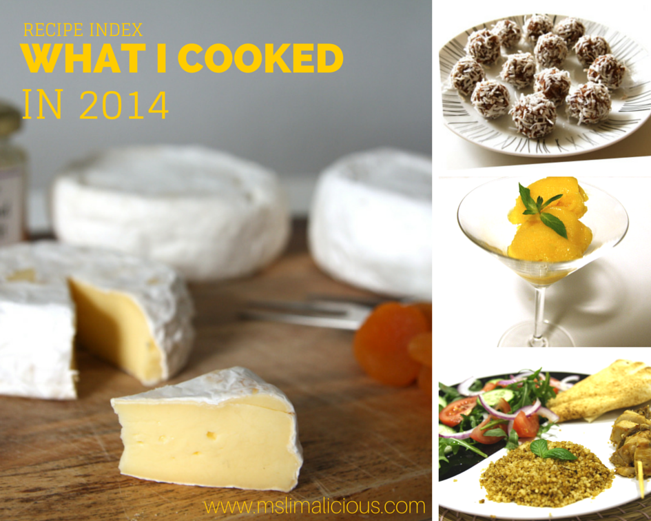 What I Cooked in 2014: Recipes Index (Easy & Healthy)