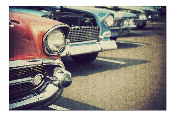 Classic Cars in a Row Close Up Photography A-90893 (20×30 Premium 1000 Piece Jig…