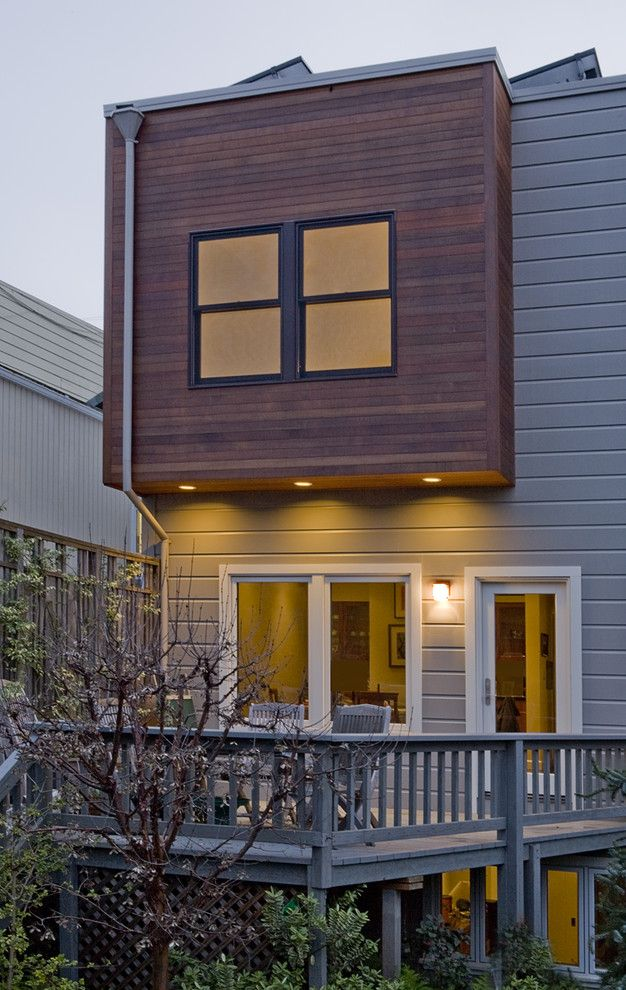 How To Paint Cedar Siding Contemporary Exterior With Natural Wood In San Francisco Paint Ideas Exterior House Remodel House Paint Exterior House Exterior