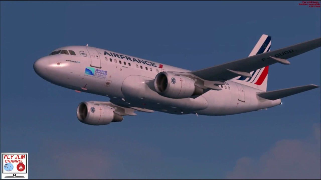 FSX Landing at Dusseldorf airport with Airbus A318 Air France