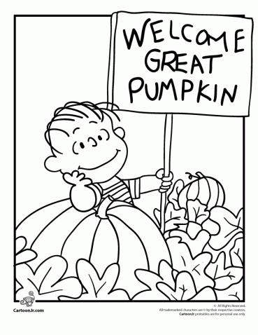It S The Great Pumpkin Charlie Brown Coloring Pages Woo Jr Kids Activities Pumpkin Coloring Pages Charlie Brown Halloween Halloween Coloring Pages