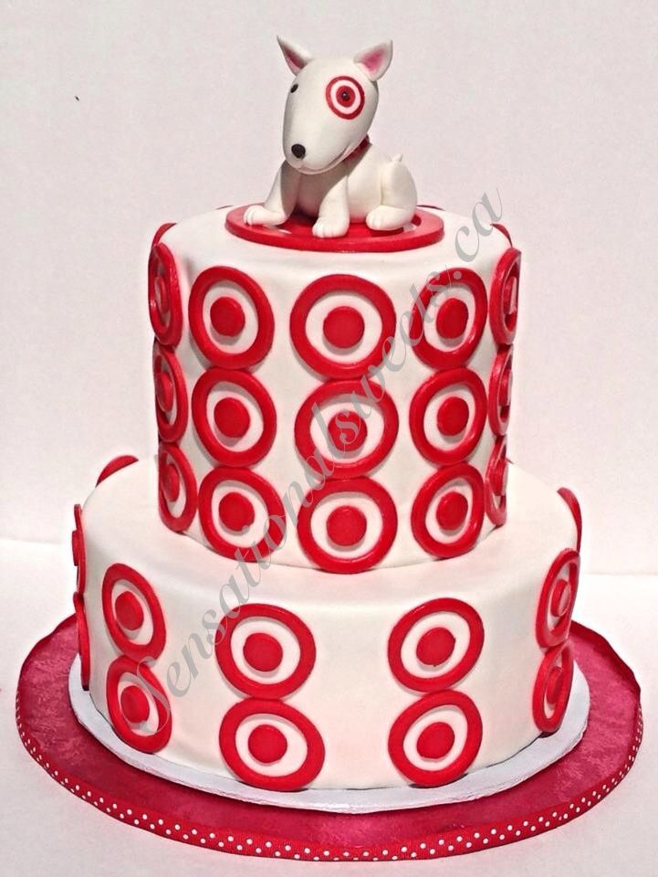 Target Cake With Bullseye The Dog Fondant Figurine Fourth Birthday 30th Parties