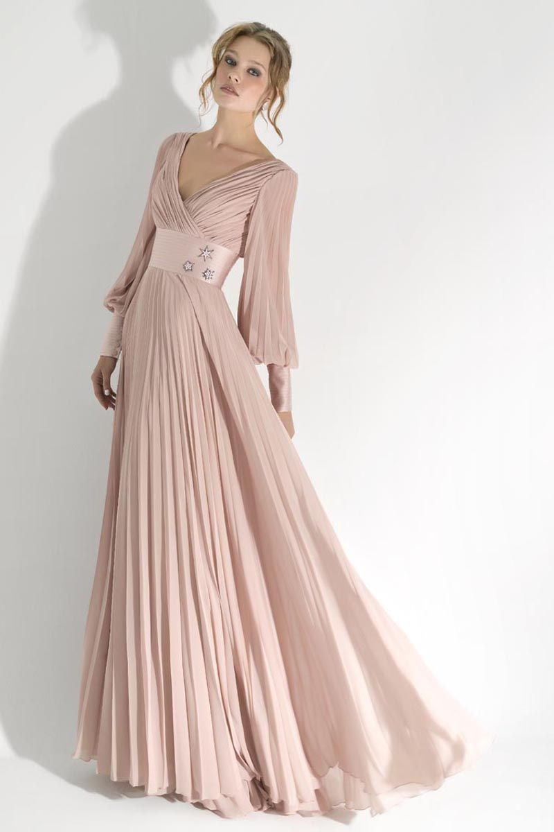 evening-dresses-with-long-sleeves- | Long Sleeve Dresses | Pinterest ...