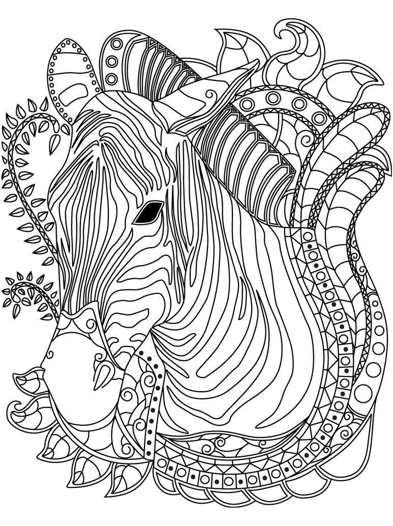 Pin de Barbara en coloring horse, zebra | Pinterest