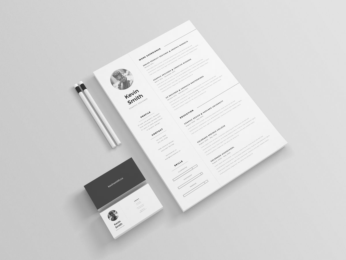 free clean & minimal resume template on behance | resume design