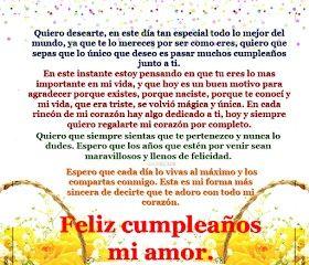 Feliz cumpleanos amor bello