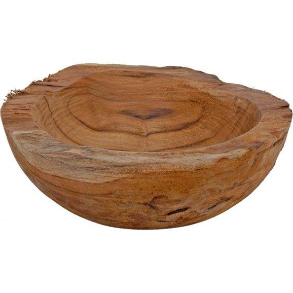 Dekorative Schale aus Holz in Braun - ein Hingucker im Ethno-Look