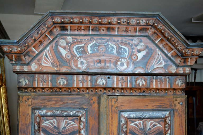 Early 19th Century Painted Swedish Cabinet image 3