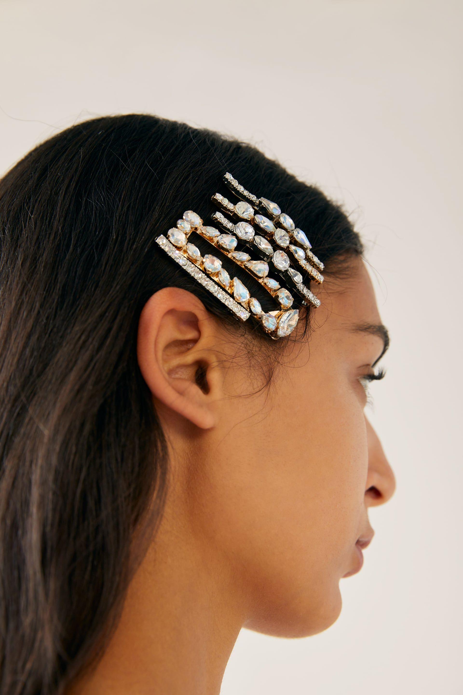 Pack Pinzas Xoias Accesorios De Pelo Accesorios Muller Zara España Hair Clips Jewelled Hair Clips Fashion Week Hair
