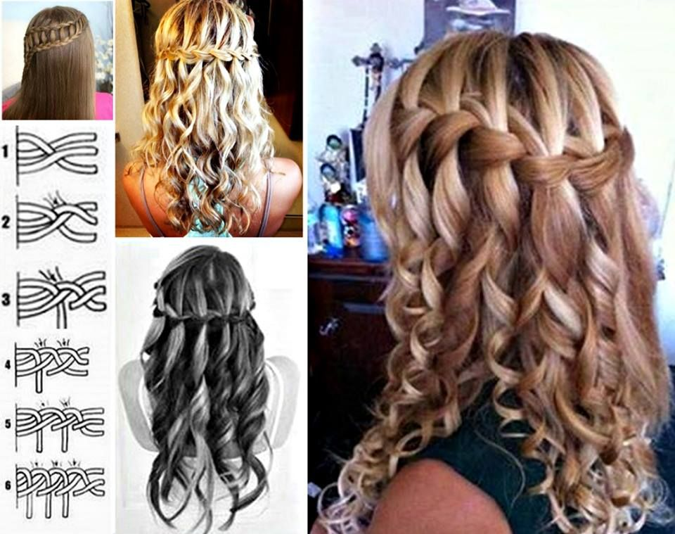 How to diy lovely waterfall braid hairstyle hair pinterest here is a very lovely diy hair tutorial and one of my favorites too waterfall braid in the back to the side down this is a beautiful style that would ccuart Images