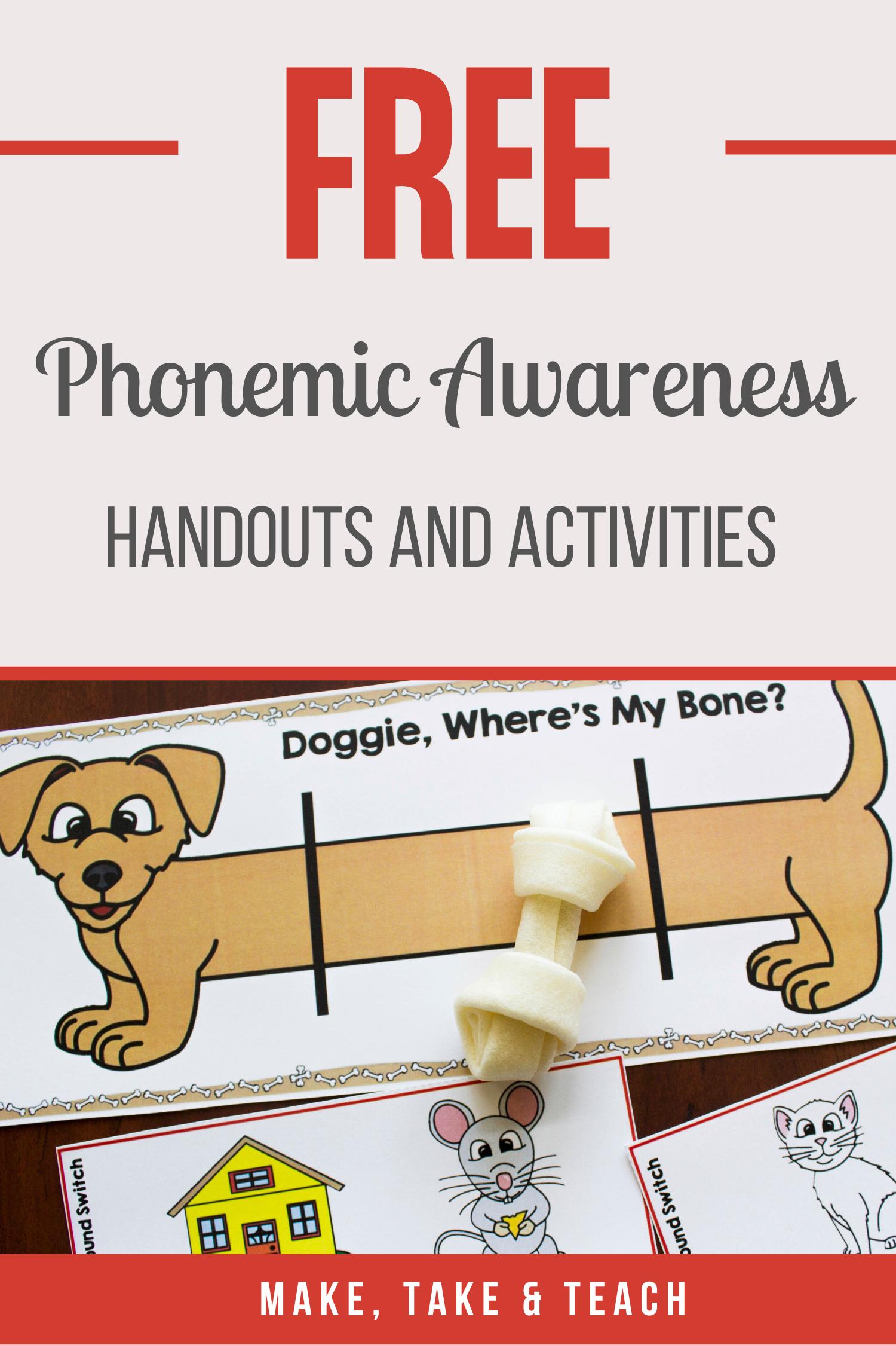 Phonemic Awareness Free Resources In