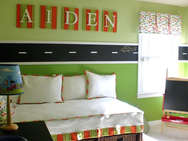 Kids Bedroom Green top bedroom trends for kids | chalkboards, car themed bedrooms and
