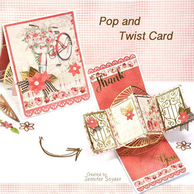 Create a Pop and Twist Card with Spellbinders and Maja ...