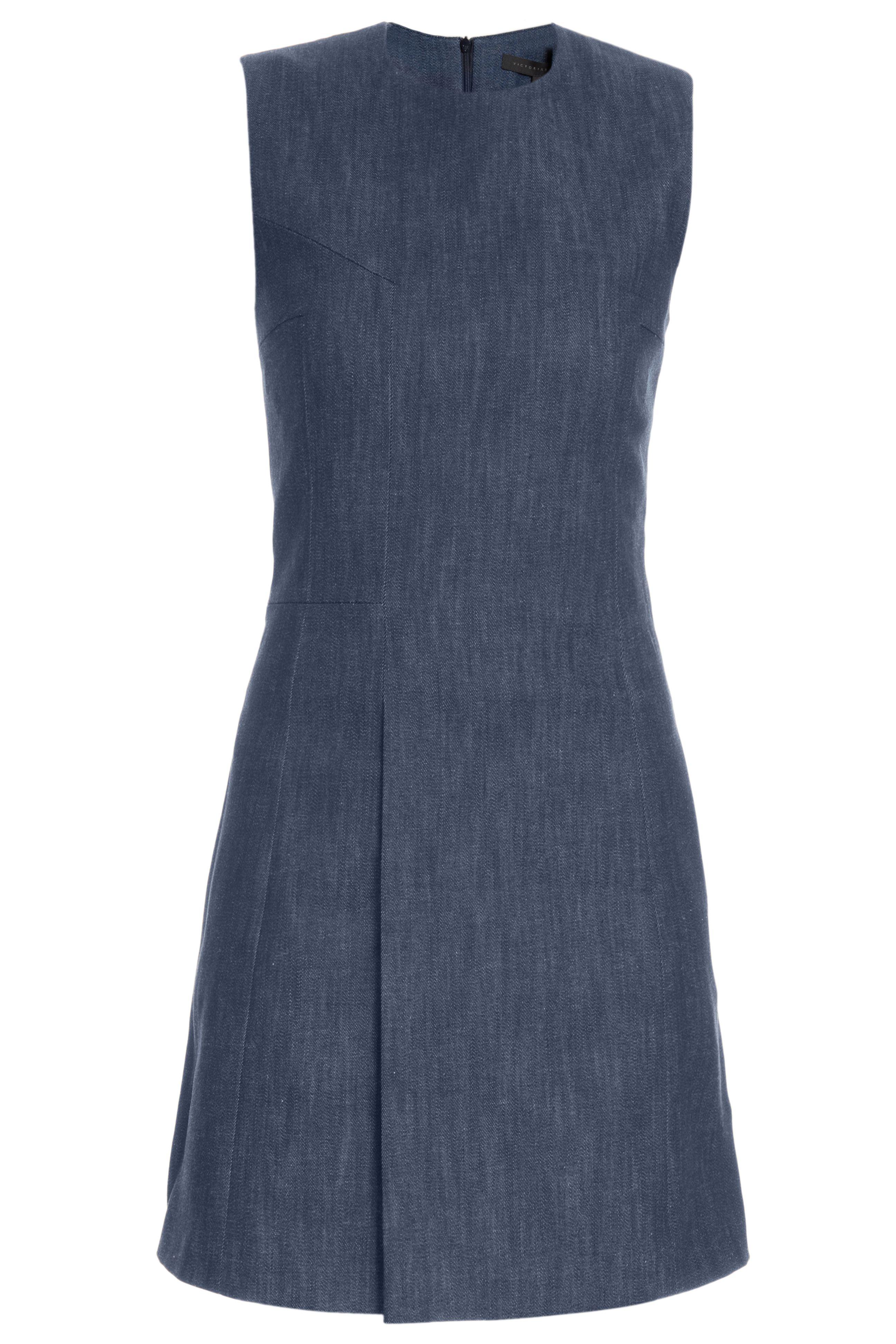 Victoria Beckham Blue Front Fold Shift Dress Dresses Shift Dress Clothes Design [ 3888 x 2592 Pixel ]