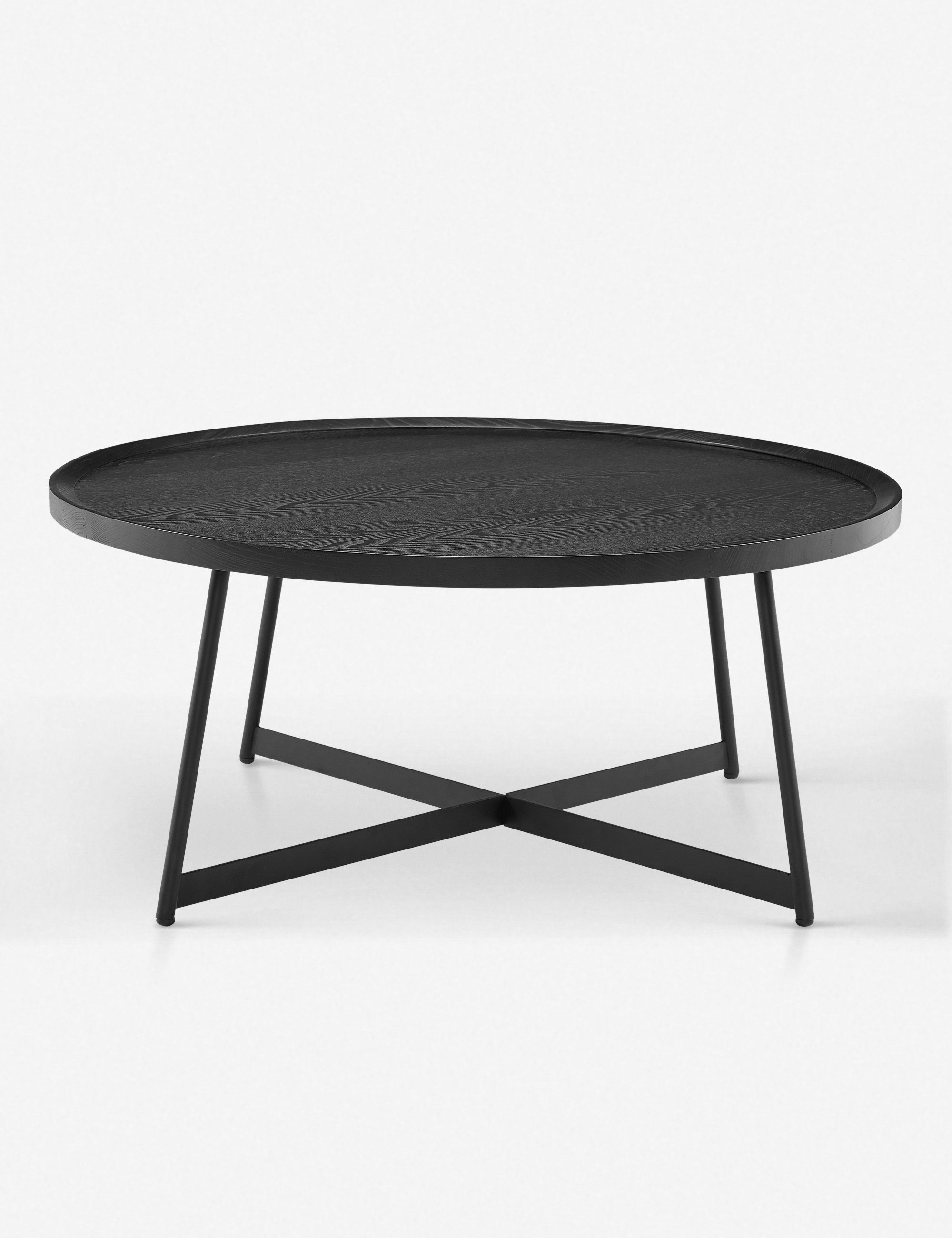 Gweneth Round Coffee Table Black Ash In 2021 Round Coffee Table Coffee Table Steel Coffee Table