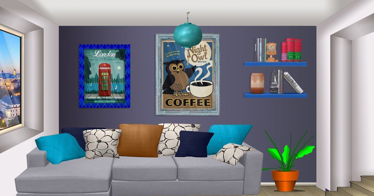 Int Apartment Blue Living Room Day Episode Life Ww Episodeinteractive Blog Faith S Background Reque Living Room Background Living Room Anime Blue Living Room Living room anime apartment background