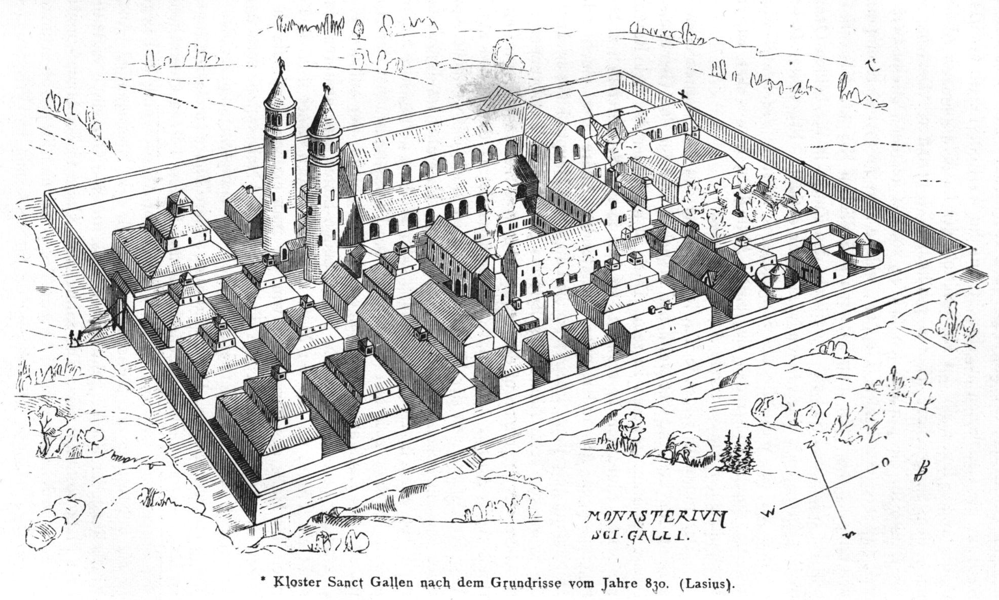 CAROLINGIAN & OTTONIAN ARCHITECTURE Reconstructed drawing