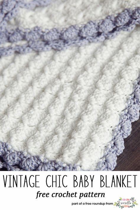The Best Free Crochet Baby Blankets for Girls | Tejido
