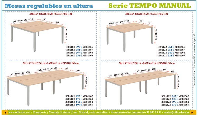 Mesas de oficina regulables en altura. | Muebles y sillas de ...