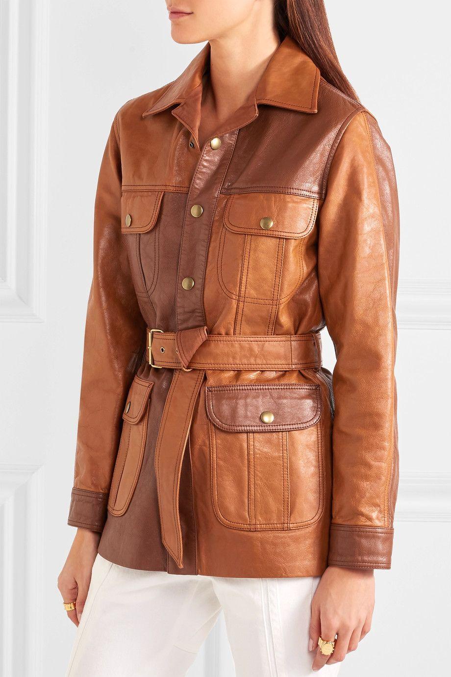 Chloe Belted Leather Jacket Tan Leather Jackets Leather Jacket Jackets [ 1380 x 920 Pixel ]