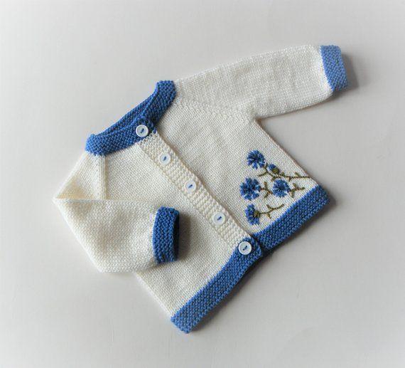 438bb1b4838e Cornflower embroidery cornflower sweater royal blue baby cardigan ...
