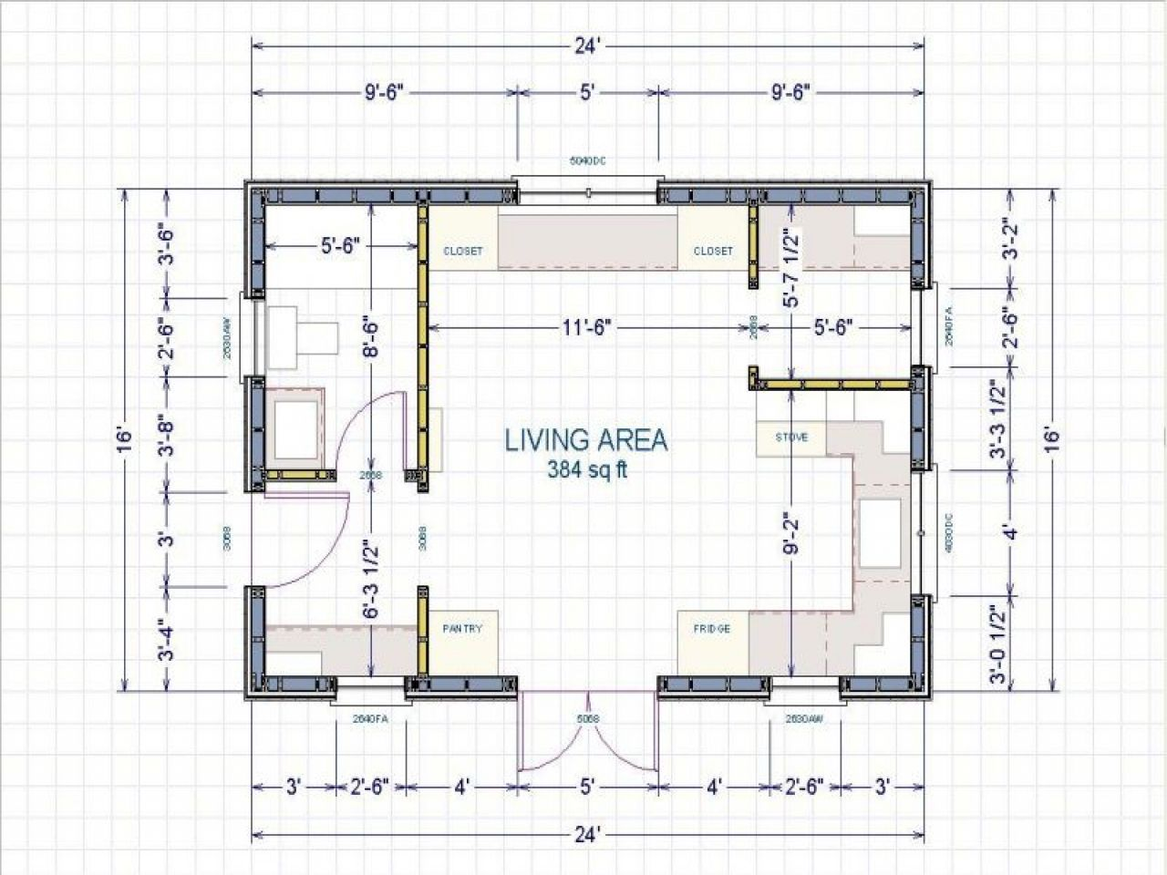 Image Result For 16 X 24 Cabin Floor Plans Tiny House