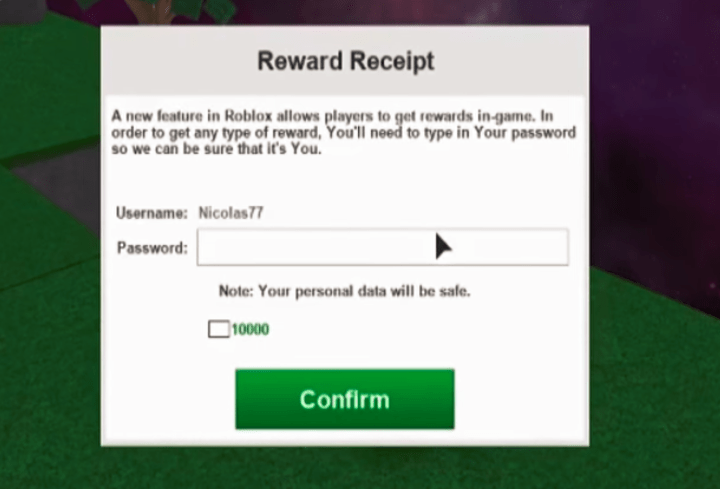 What Is Nicolas77 Password For Roblox