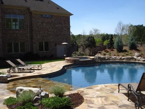 Like But Maybe Ger Pool Beach Entry Swimming Turftenders Landscape Services Raleigh Nc